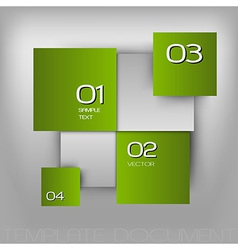 business squares light green with text vector image vector image