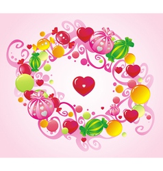 curls and sweets vector image vector image