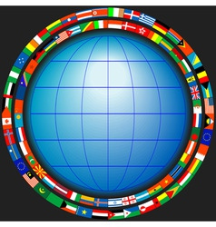 globe flags vector image vector image