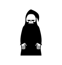 grim reaper isolated death in hood on white vector image vector image
