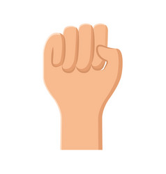 hand human fist icon vector image