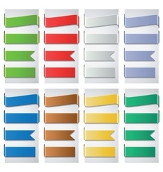 Set of the colorful ribbons vector image