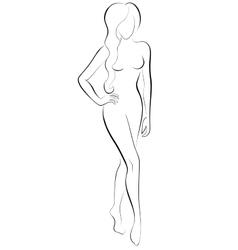 slim woman vector image