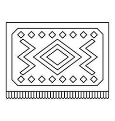 Turkish carpet with geometric pattern icon vector