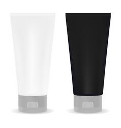 black and white tube for cream or another cosmetic vector image