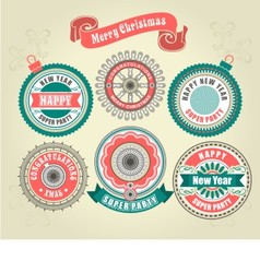 CCalligraphic Design Elements of Merry Christmas vector image vector image