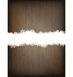 Christmas brown wooden background EPS 10 vector image vector image