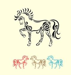 Horse decorative vector image