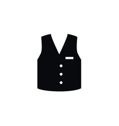 isolated vest icon waistcoat element can vector image vector image