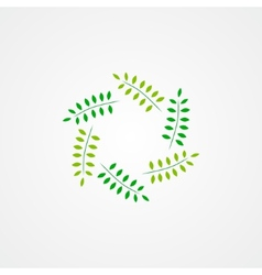 Logo green branches vector