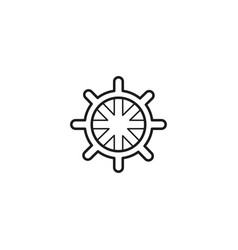 ship navigate wheel icon vector image