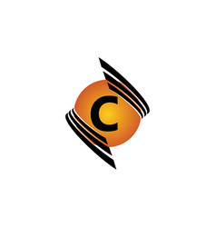 technology letter c vector image