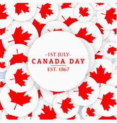 1st july canada day background vector