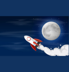 a rocket on the sky vector image
