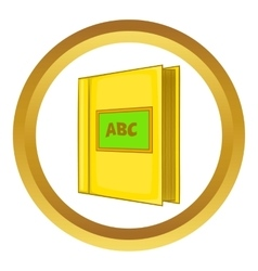 Abc book icon vector