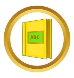 Abc book icon vector