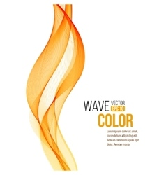 Abstract orange wave design element vector