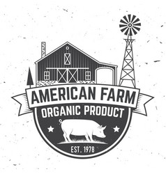 American farm badge or label vector
