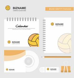 basketball logo calendar template cd cover diary vector image
