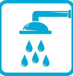Bathroom symbol with shower icon vector