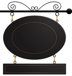 black cafe sign vector image