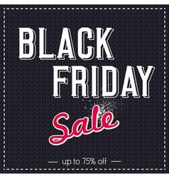 Black friday sale banner on knitwear background vector