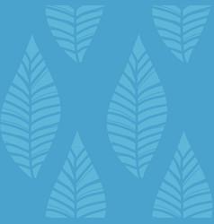 blue green leaf grass stream seamless pattern vector image