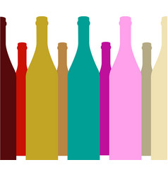bottle of alcohol vector image