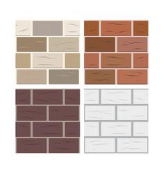 Brick wall seamless texture tiles vector