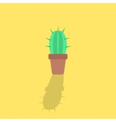 cactus icon with shadow vector image