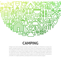 Camping line concept vector