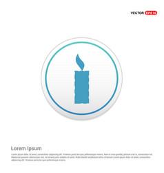 candle icon - white circle button vector image
