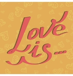 card love is vector image