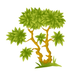 Cartoon Decorative Tree vector image
