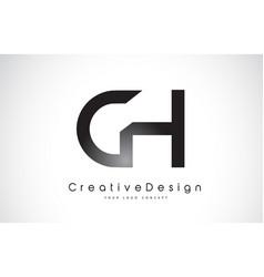 Ch c h letter logo design creative icon modern vector
