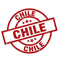 chile red round grunge stamp vector image vector image