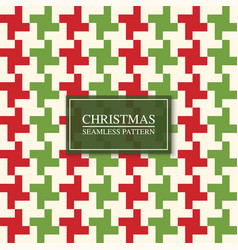 christmas seamless colorful textile pattern vector image