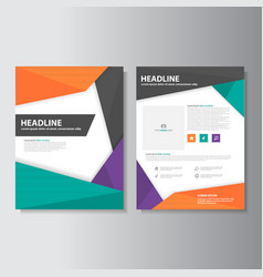 Colorful brochure flyer leaflet report templates vector
