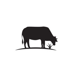 cow logo template icon vector image