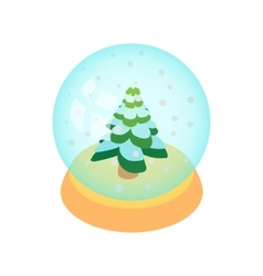 Crystal christmas ball icon cartoon style vector