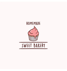 cupcakes bakery and dessert logo sign template vector image