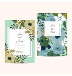 Cute wedding invitation template vector