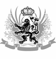 decorative heraldry vector image vector image