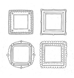 Decorative template photo frames vector