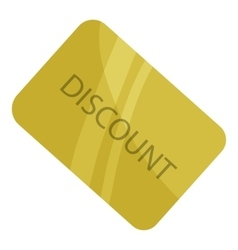 Discount card icon cartoon style vector