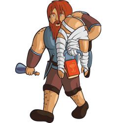 drunken red-haired healer vector image vector image