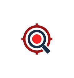Find target logo icon design vector