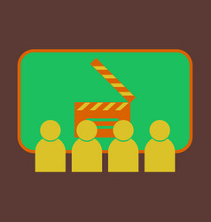 flat icon people in cinema vector image