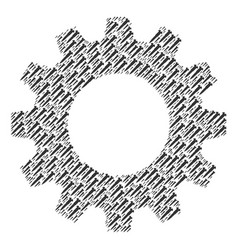 gearwheel collage of screw icons vector image