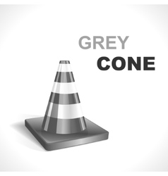 Grey Traffic Cone vector image